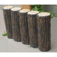郑州天艺仿木树桩石模具 水泥树桩产品 树皮栏杆 木桩连木桩模具