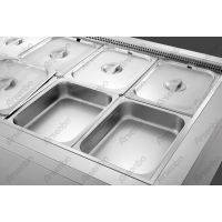 汉尊披萨操作台 定做平冷柜 开孔工作台 不锈钢盘子制冷卧式冰箱