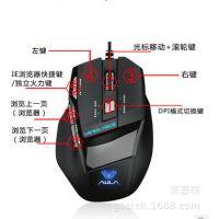 狼蛛弑魂 冰晶版 噬魂升级版 CS/CF 有线鼠标7D专业游戏发光鼠标