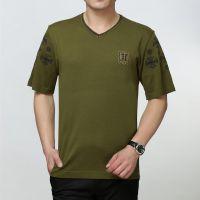 迪赛羊夏季休闲男式t恤短袖V领男士短袖针织t恤桑蚕丝淘宝代理