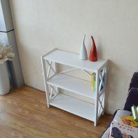 [杰森家具]时尚韩式白色实木三层简易组合书架置物架书柜爆款批发