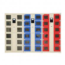 阜新24门投币存包柜订做 公共场所手机寄存柜 收费电子储物柜厂家