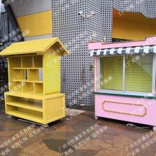 商业街实木岗亭,木质餐饮烧烤亭,移动售货亭