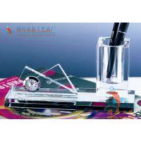 商务馈赠礼品 桌面水晶摆件 水晶三件套批发 广州厂家直销