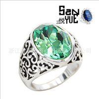 水晶戒指 埃及艳后款戒指 复古戒指