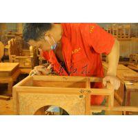 缅甸花梨书桌 古典中式办公桌 豪华大气浑然天成王义红木家具