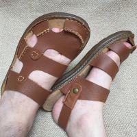 外贸品牌真皮男士休闲夏季包头透气凉鞋批发微信代理一件代发