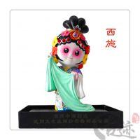 【古迹印象】立体卡通—京剧人物 泥塑摆件 民间工艺品 中国特色