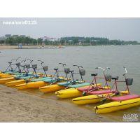 海南水上游乐设备 双人脚踏船 水上自行车价格