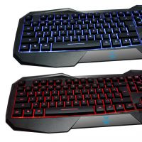 狼蛛三色八荒键盘 USB接口 专业电竞游戏键盘 发光键盘 特价批发