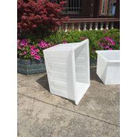 『荐』200L塑胶方桶 白色塑料牛筋水箱 食品级PE周转箱 品质保证