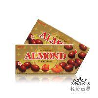 韩国进口 乐天 巧克力板豆 杏仁口味香浓巧克力板豆  42g