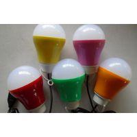 创意便携led彩灯 5V 5W LED低压球泡灯 移动USB球泡灯
