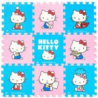 明德新款KT猫覆膜卡通爬行垫学步垫凯蒂猫拼图游戏 EVA垫拼接地垫