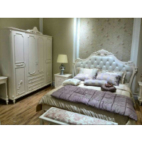欧式床双人1.8米公主婚床田园法式家具卧室现货珠光皮床
