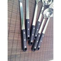 万豪餐具 黑珍珠不锈钢厨具7件套套装 汤勺 锅铲 带架子