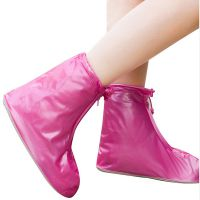 批发L码粉色加厚底短筒耐磨鞋套 便携式鞋套 户外防泥泞防滑鞋套