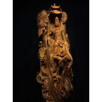 崖柏作品 龙凤观音 福建木雕经典手工巨作 历时3个月完成整件无拼接