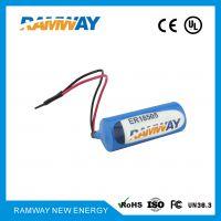 厂家直销 睿奕ramway 容量型ER18505M智能水表锂电池3.6V煤气表燃气表流量计