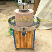 花生酱芝麻酱电动石磨机 半自动豆浆米浆石磨机 瑞诚自产