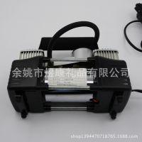 充气泵 大功率车载充气泵金属双缸 便携式车用打气泵