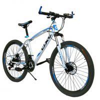 登喜莱山地车自行车高碳钢 21速26寸双碟刹禧马诺变速器学生男女公路单车