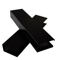 黑色铝方通天花吊顶-U型黑色铝天花
