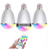 工厂音乐七彩LED字母灯群组灯泡RGB 手机APP控制蓝牙智能灯音箱音响