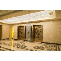MOGO莫戈蚀刻板乘客电梯包门套,酒店会所商场彩色钛金镜面蚀花304不锈钢电梯包门套