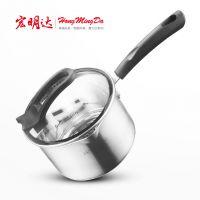 201不锈钢奶锅 复底单柄奶锅 多用锅具迷你小奶锅 刻度线 宏明达