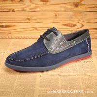 厂家直销春夏季新款男士真皮休闲板鞋时尚潮流真皮男鞋透气单鞋
