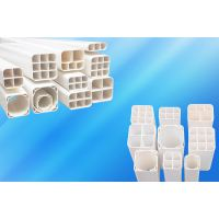 培达塑料pvc栅格管厂家直销 pvc方管定制 pvc多孔管订制