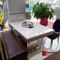 臻好厂家批发韩式智能海鲜蒸汽火锅桌 不锈钢大理石蒸汽火锅餐桌定做