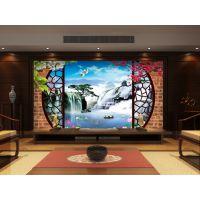 湖北宜昌浮雕艺术瓷砖背景墙3D打印机 精工品牌精雕玄关海洋瓷砖