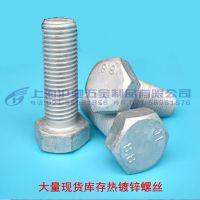 现货8.8级热镀锌热浸锌外六角螺栓螺丝螺杆铁塔电力螺丝