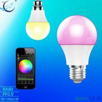 RGBW LED智能球泡灯蓝牙安卓/IOS苹果智能家居带音乐控制厂家直销