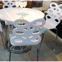 厂家定做 西餐厅成套餐桌椅 茶餐厅休闲白色餐桌椅组合
