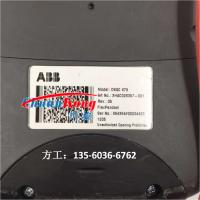 维修ABB DSQC679机器人示教器显示屏显示不良、花屏、闪屏、竖线,摔破