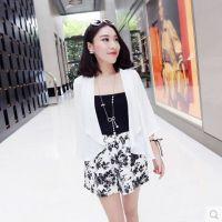 小银子欧美范 2014夏装新款韩版简约气质薄款雪纺防晒开衫女W7233