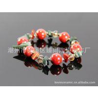 【小额混批】陶瓷手链 瑞丽风格时尚韩国水钻 陶瓷饰品批发创意