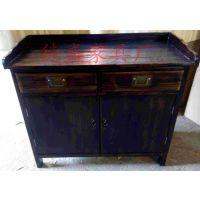现代中式碳烧风格实木餐边柜