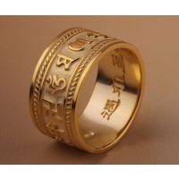泰银六字真言扳指925纯银六字大明咒戒子转运戒指加工生产定制厂