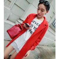 【YESWOMEN】小宜定制 2014秋冬新款女装 红色夹棉大衣厚外套