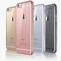 苹果7电镀tpu边框手机壳Iphone 6/6s PLUS超薄透明保护套5s外壳