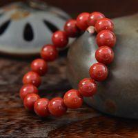 纯天然南红玛瑙手链 柿子红满肉 男女款手串 生日礼物