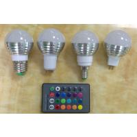 LED RGB球泡灯3W彩灯led七彩多色变化灯泡16个颜色多变灯具E27螺口E14GU10MR16
