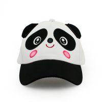 仲达夏季卡通棒球帽 定做熊猫刺绣礼品鸭舌帽 纯棉斜纹遮阳太阳帽