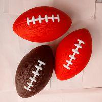 活动促销PU发泡橄榄球 兴宏发环保玩具球 异形多色多尺寸玩具