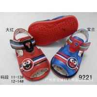 2015新款夏季儿童凉鞋 光面蛇皮PU鞋 广州厂家直供