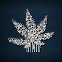 韩枫饰品 韩版热销时尚镀银水钻发梳水晶插梳 新娘头饰发饰批发